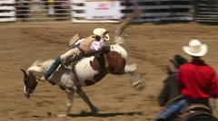 Bareback Bronco Riding 1 - stock footage