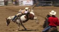 Bareback Bronco Riding 1 Stock Footage