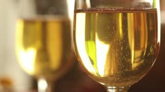 Title Two Champagne Flutes Stock Footage