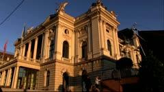 Zurich opera Stock Footage