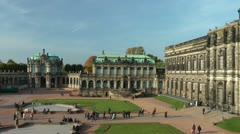 Dresden Zwinger Germany Deutschland Stock Footage