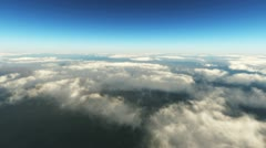 Flight over the clouds Stock Footage