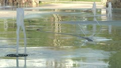 Little Fountain Spurts Stock Footage