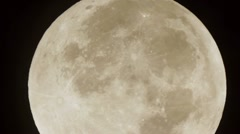 Full Moon Cloudy Pass Stock Footage
