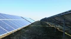 Solar photovoltaic panels. Solar park Stock Footage