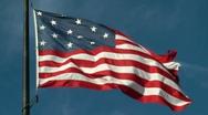 Real 15-star American Flag, 1814, Medium shot, Star-Spangled Banner flag Stock Footage