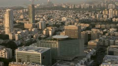Tel Aviv day view northwest Stock Footage
