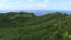 View Across Pitcairn Island Stock Footage