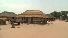 Stock Video Footage of Village Huts