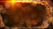Sparkles lights fairy dust frame loop Stock Footage