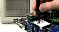 Demo circuit board troubleshoot; 2 Stock Footage