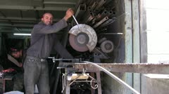 blacksmith doing his duty - stock footage