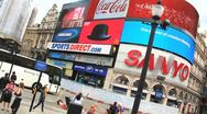 Piccadilly Circus London Stock Footage