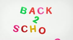 Stop motion animation - Back 2 School Stock Footage