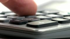 Stock Video Footage of Calculator keypad macro