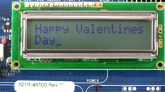 Stock Video Footage of Valentine wish texting style message; 2