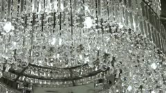 Crystal Chandelier. Stock Footage
