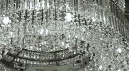 Stock Video Footage of Crystal Chandelier.