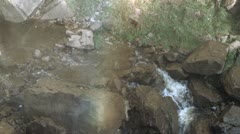 Foot of Waterfall Stock Footage