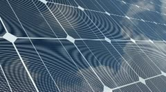 Sky Reflected on a Solar Panel - stock footage