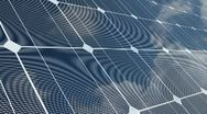 Sky Reflected on a Solar Panel Stock Footage