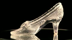 Crystal slipper Stock Footage