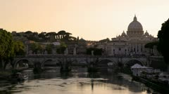Rome and the Vatican at Dusk - stock footage