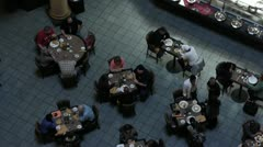 Crowd in Diner 1 Stock Footage