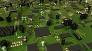 Green Circuit Board. HD Loop. Stock Footage