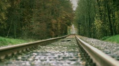 Rails in the Forest Stock Footage