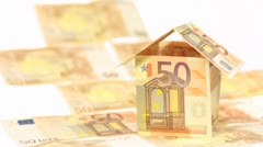 EURO DREAMHOUSE BLOWING AWAY Stock Footage