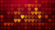 Stock Video Footage of Red hearts background loop