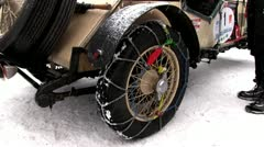Snow chains Stock Footage