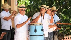 Cuban musical performance - stock footage