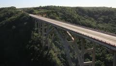 Large scenic bridge in Cuba Stock Footage