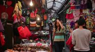 Night market in china Stock Footage