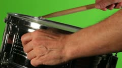 Snare drum adjusted Stock Footage