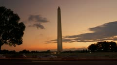 Washington Monument Time Lapse at Dusk Stock Footage