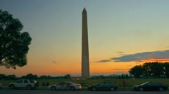Stock Video Footage of Washington Monument Time Lapse at Dusk