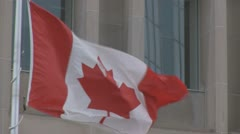 Canadian Flag 24p - stock footage