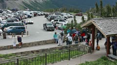 Visitor Center Logan Pass Glacier NP P HD 0545 Stock Footage