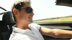 Man driving his sportscar; Full HD Photo JPEG - stock footage
