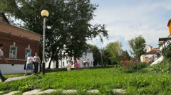 Rizopolozhensky convent in Suzdal - stock footage