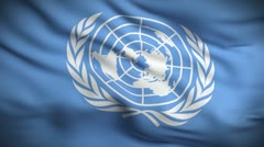 United Nations Flag HD. Looped. Stock Footage