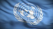 Stock Video Footage of United Nations Flag HD. Looped.