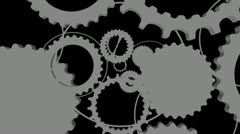 Gears with Alpha Looping Editors Element Stock Footage