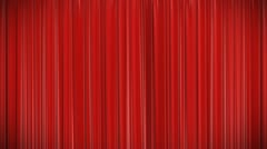 Red curtain, Opening and closing 3d animation, HD, mask. Stock Footage