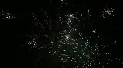 New Year's fireworks Stock Footage