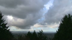 Portland and Willamette Valley Time Lapse Stock Footage