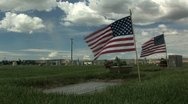 Cemetery flags timelapse Stock Footage